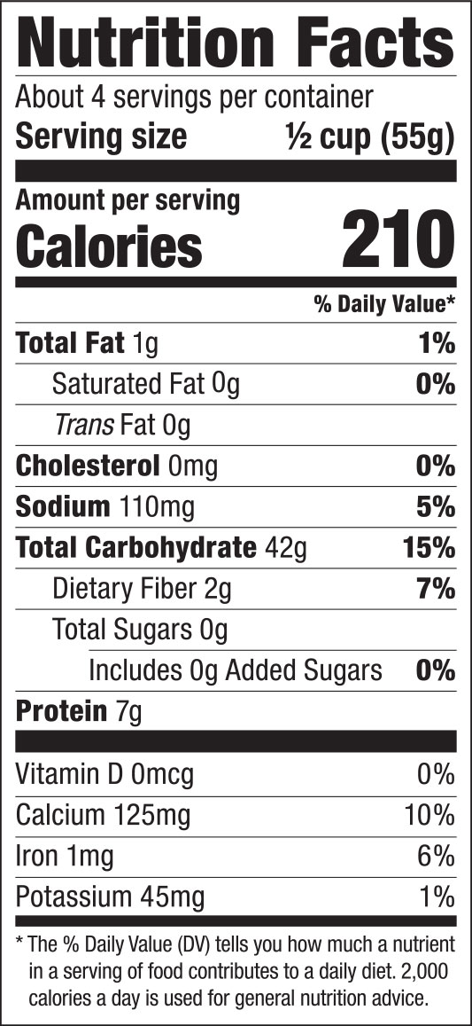 Chinese Noodles Nutrition Facts