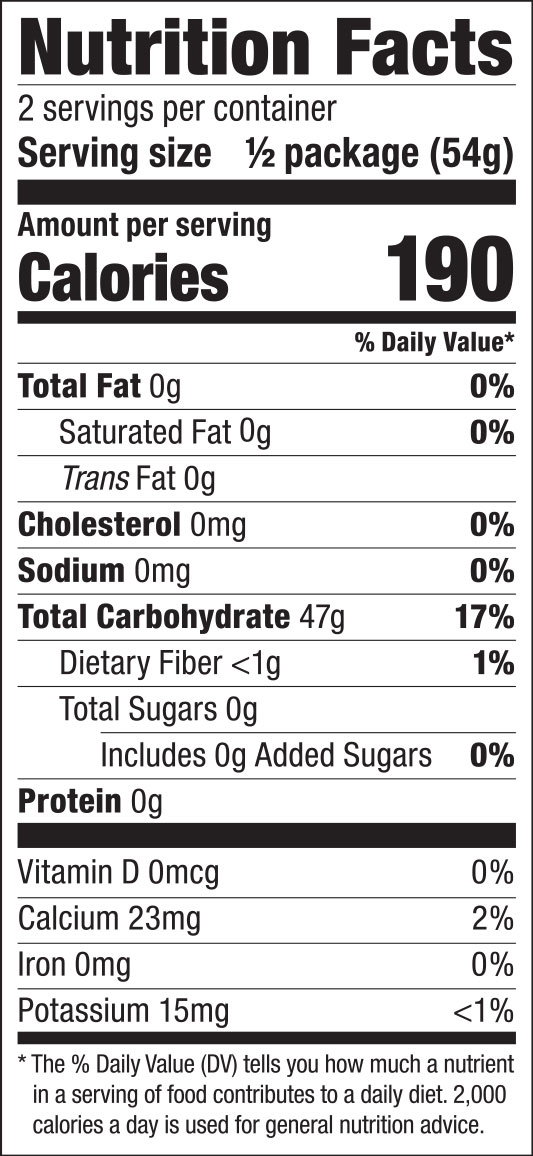 Bean Threads Nutrition Facts