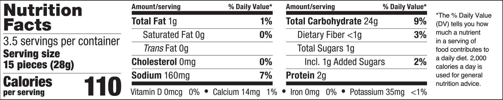 Black Sesame and Soy Sauce Rice Crackers Nutrition Facts