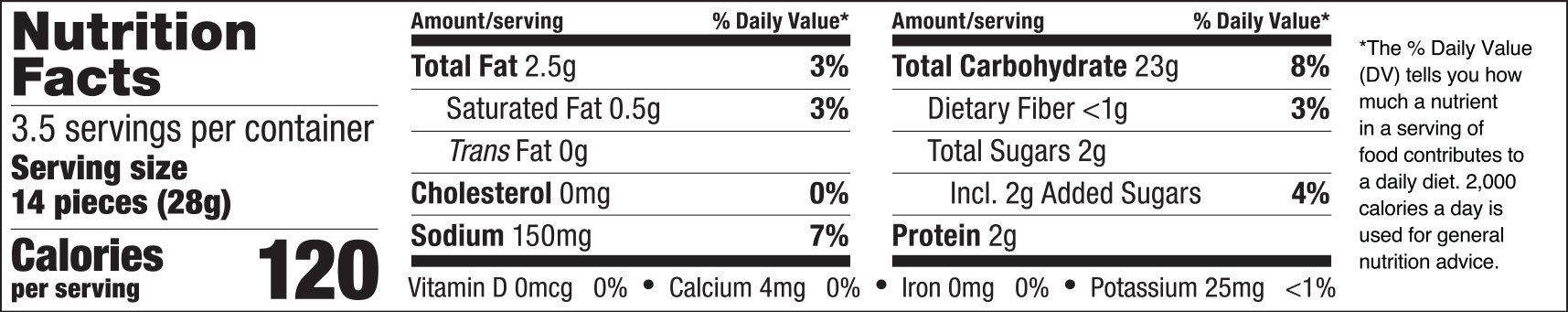 Spicy Sweet Chili Rice Crackers Nutrition Facts