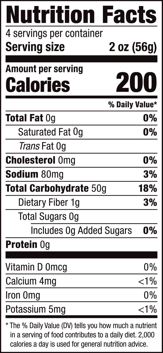 Rice Sticks Nutrition Facts