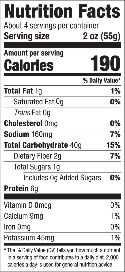Wide Lo Mein Noodles Nutrition Facts