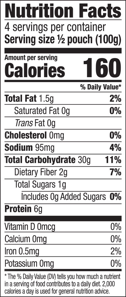 Thai Ribbon Noodles Nutrition Facts